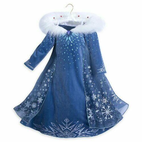 NEW Disney Princess Elsa Fancy Dress Up Cosplay Costume Outfit Girl Skirts Gift
