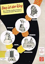 Retsch Laborgeräte, orig. Prospekt verm. ca. 50er Jahre