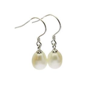 Pearl-Drop-Earrings-Sterling-Silver-Cultured-Freshwater-Pearls-Wedding-Bridal