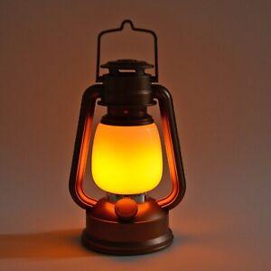 Home-Decor-Bronze-Flickering-Flame-Lantern-LED-Light