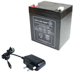 Agm Akku 12v 5 Ah Agm Batterie Ersetzt 4 Ah 4,5 Ah Ladegerät Stecker Vertrieb Von QualitäTssicherung Spielzeug