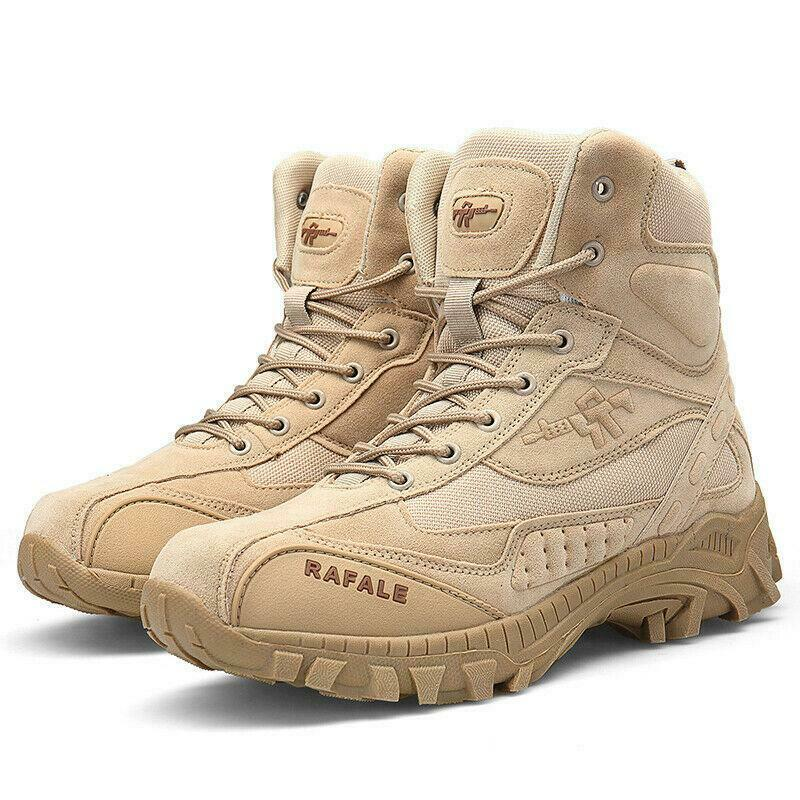 Desert Shoes Mens High Top Boots Military Tactical Combat Army Boots Outdoor