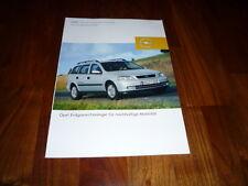 Opel Astra Caravan CNG Prospekt 08/2002