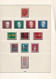 Deutschland-1966-1968-Postfrisch-12-Bilder