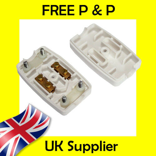 5A Inline Junction Connector Box 2 Terminal Cable Wire Mains Electrical Joiner