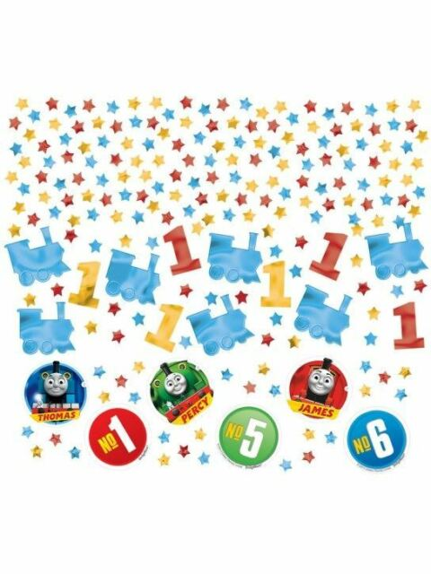34g of Thomas & Friends Confetti with stars, train, James, Percy cutouts