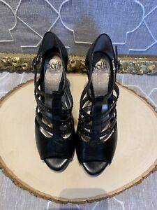 Sofft Women's Platform Heels Open Toe Sandals Size 8.5 NEW studded black ankle