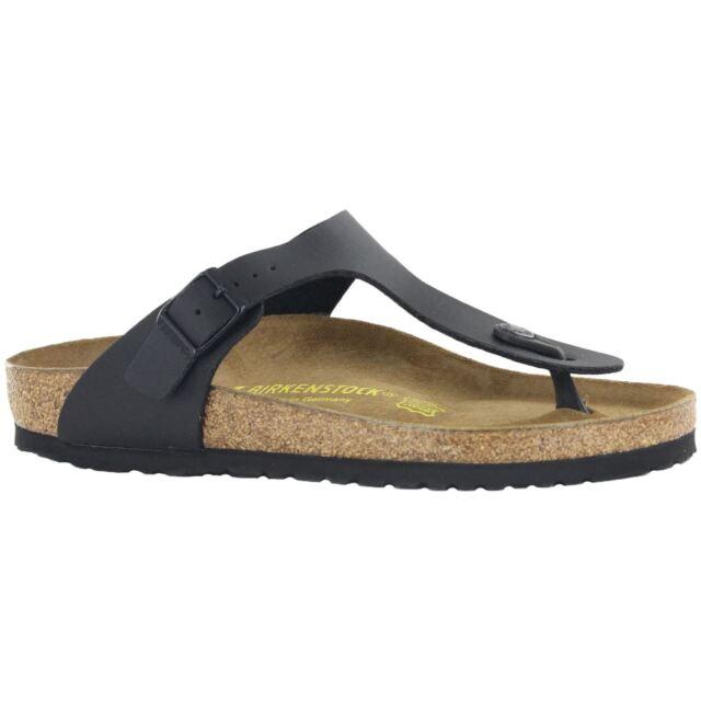 9b8f7a1ebf16 Birkenstock Gizeh Birko-flor Style-no. 43691 Unisex Thong Sandals Black EU  37 Regular Width