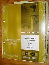 International Hough HAH-E PARTS MANUAL BOOK CATALOG WHEEL PAYLOADER GUIDE LIST