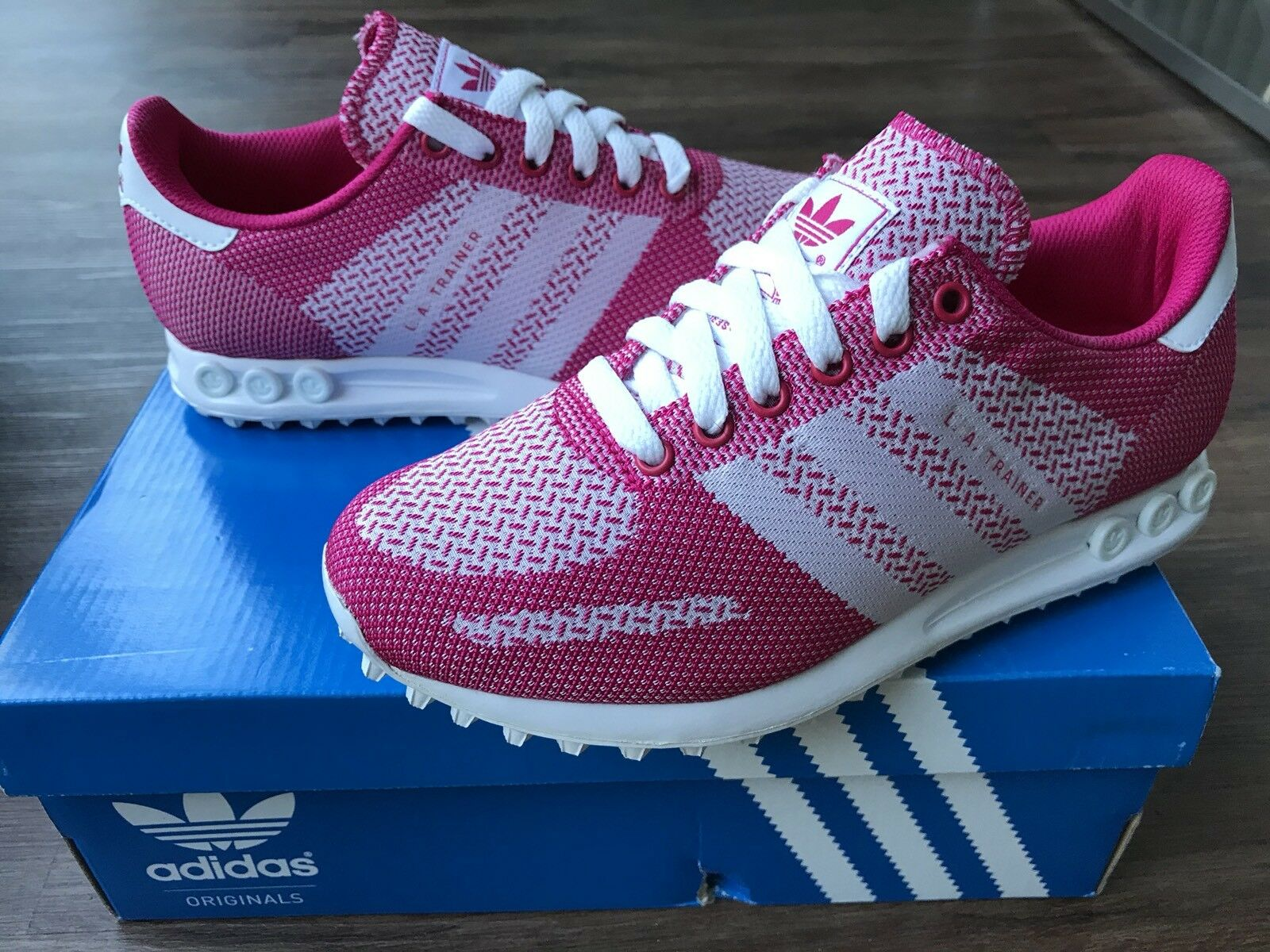 ADIDAS LA Weave Women's Trainers, Pink - Size 4.5