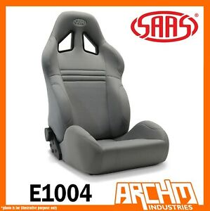 SAAS-KOMBAT-SPORTS-CAR-SEAT-DUAL-RECLINE-CHARCOAL-COMFORT-SUPPORT-ADR-STRONG