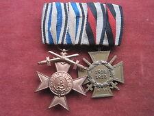 Bayern 2er-Ordensspange mit MVK mit Schwertern und Ehrenkreuz