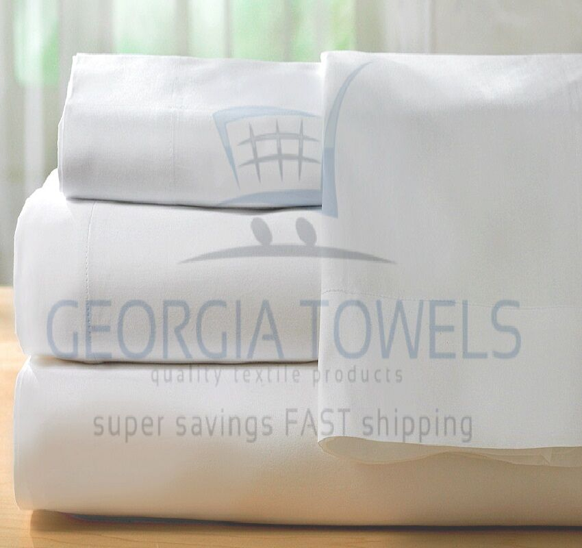 6 full 54x75x9 t180  hotel fitted bed sheets premium ga towel brand cotton