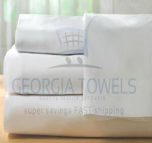 1 twin 66x104 t180  hotel flat bed sheets premium ga towel brand cotton