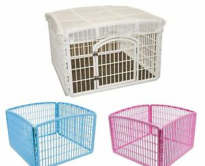 DOG PLAY PEN Iris Indoor Outdoor Puppy Cage Exercise Kennel ...