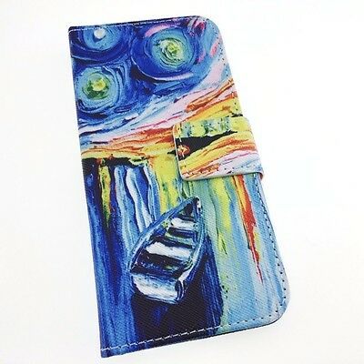 iPhone 5/SE/5C/6/7/7 Plus Van Gogh Art Paint Leather Wallet Cover Case Stand