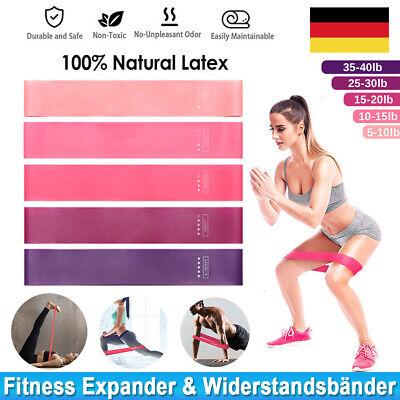 5er-Set Widerstandsbaender Resistance Bands Loop Fitness Bänder Gymnastikbänder
