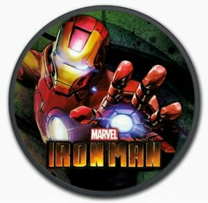 2018-Tuvalu-MARVEL-IRON-MAN-Colorized-Ruthenium-1oz-999-Silver-Coin-Box-amp-COA