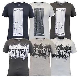 Camiseta-hombre-Firetrap-Manga-Corta-Estampada-Estampado-Cuello-Redondo-Casual