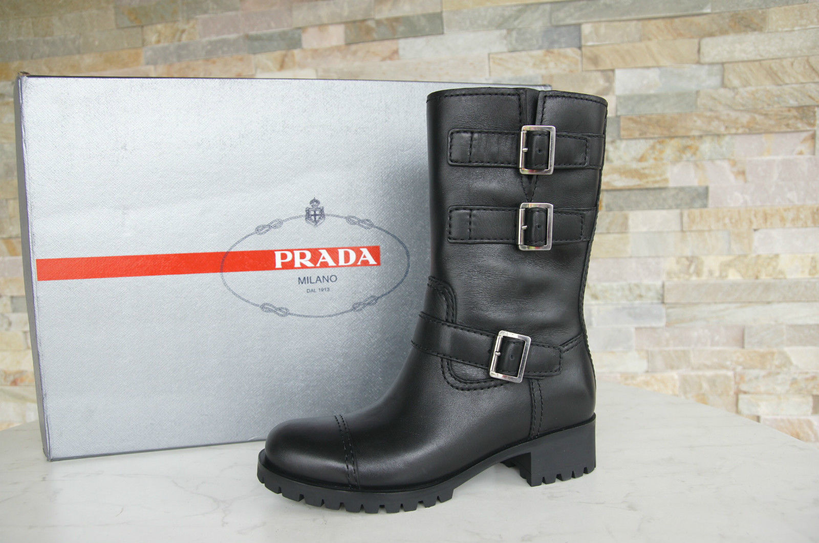 Prada talla 36 botas botines botaies 3u5914 zapatos zapatos zapatos negro nuevo ex PVP  ventas en linea