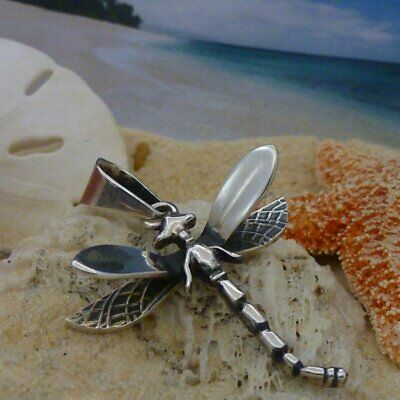 Beautiful Sterling silver 925 sterling Sterling Silver Polished Dragonfly Pendant