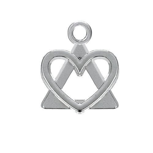 20pcs Adoption Symbol Heart in Triangle Charms Jewelry Making