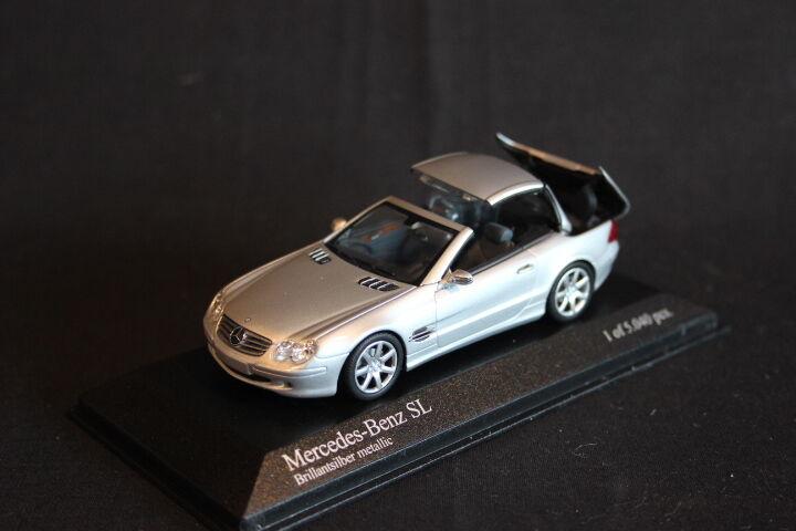 Minichamps Mercedes-Benz SL 2001 1 43 Brillantsilver Metallic (JS)