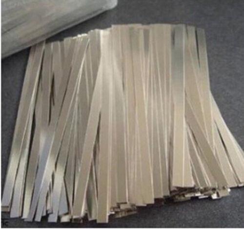 500pcs 0.1x7x100mm Nickel Plated Steel Strap Strip Sheet for battery spot welder