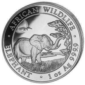 Somalia - 100 Shillings 2019-AFRICAN WILDLIFE-ELEPHANT - 1 OZ Silver ST