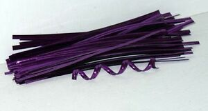 "200 4"" PURPLE METALLIC FOIL TWIST TIES,FOR CELLO BAGS"