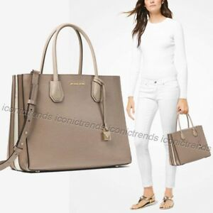 66d72b6ca790 Image is loading NWT-Michael-Kors-Mercer-Large-Accordion-Leather-Tote-