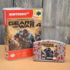 Custom Nintendo 64 Cartridge Game Gears of War 4 w/ Case Gag Gift Display Prank