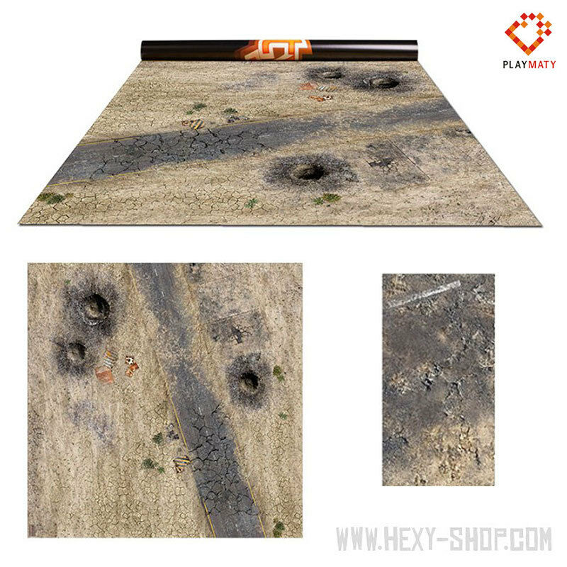 Wasteland 1   Vulcanic – Double-Sided 48″ x 48″ Mat for Battle Games