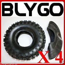 "4X GL 2PLY 3.50 / 4.10 - 4"" inch Tyre Tire + Tube  49cc Mini Quad Dirt Bike ATV"