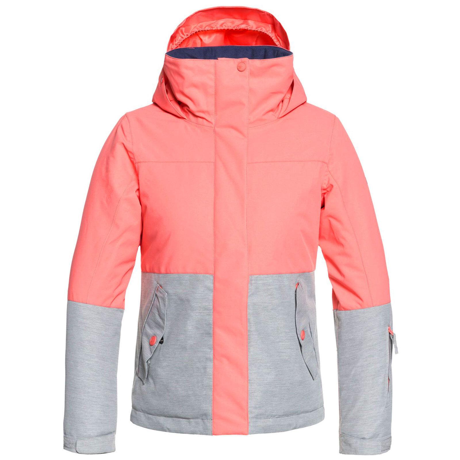Roxy Jetty Blocco Ragazza Bambini Giacca Invernale Snowboard da Sci Invernale Giacca Funzionale 72568b
