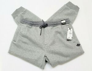 RIP-CURL-Mens-Fleece-Jogging-Pants-with-Tapered-Cuff-Gray-Large-49-95