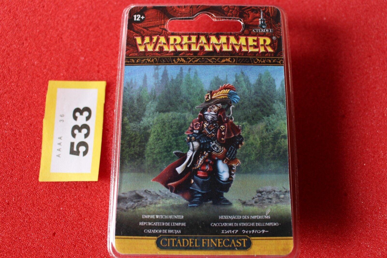 Games workshop warhammer empire hexenjäger bnib fantasie finecast neue gw