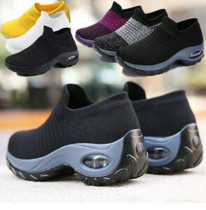 Women Ladies Casual Fly-knit Trainers