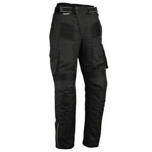 Black-Tab-Motorcycle-Black-Cargo-Protective-Heavy-Duty-Trousers-CE-Waterproof