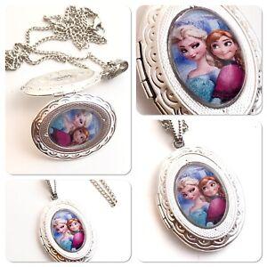 Frozen **Locket**  Elsa & Anna necklace