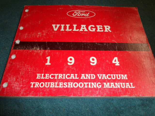 1994 Mercury Villager Wiring Diagram Vacuum Shop Manual