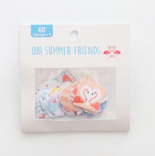 DIY 1pack Cartoon flamingo petal cactus scrapbooking sticker Decorative sticker