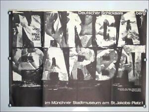 Austellungs-Plakat-A-Wischnewski-Nanga-Parbat-Muenchen-1964-Kuenstler-Poster-60er
