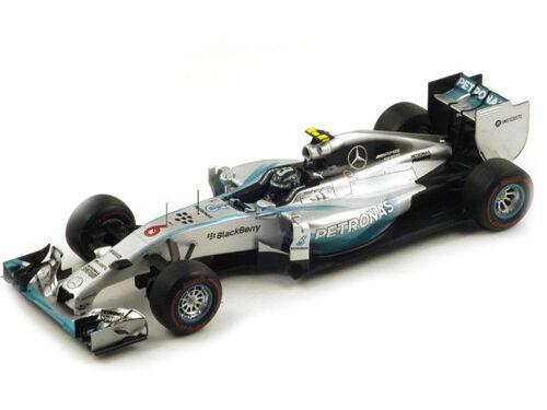 2014 GP MONACO WINNER MERCEDES PETRONAS F1 W05  6 NICO ROSBERG 1 18 SPARK 18S141