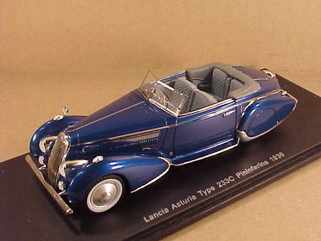alta calidad Spark 1 43 Resina 1936 Lancia Asturia Tyhpe 233c 233c 233c Pininfarna, Metal Azul  S2724  bajo precio del 40%
