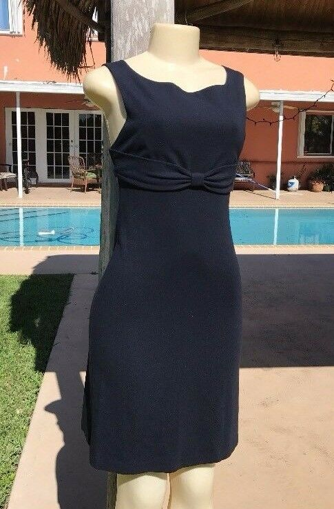 Diane von Furstenberg Dark bluee Stretch Belt Detail Sleeveless Mini Dress Sz 2