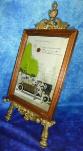 "Vintage ""La Deux Litres Tourisme Ballot"" ADVERTISING BAR MIRROR Car Automobilia"