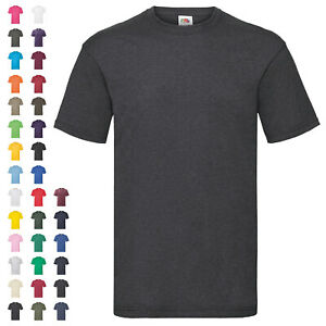 Fruit of the Loom T-Shirt Valueweight T Herren Rundhals Baumwolle Basic Shirt