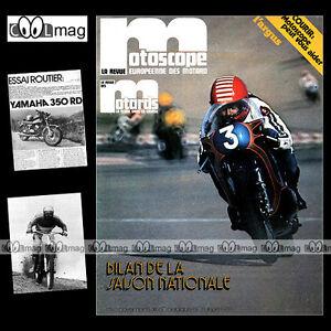 Audacieux La Revue Des Motards N°40 Yamaha Rd 350 John Player Norton 850 Motobecane Mobyx Pure Blancheur