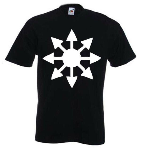 CHAOS MAGICK STAR T-SHIRT - Austin Spare Crowley Pagan Occult - Sizes S to 3XL